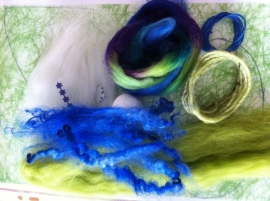 engelen pakket, groen blauw