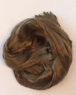Moerbei zijdenlont  licht bruin, 10 gram
