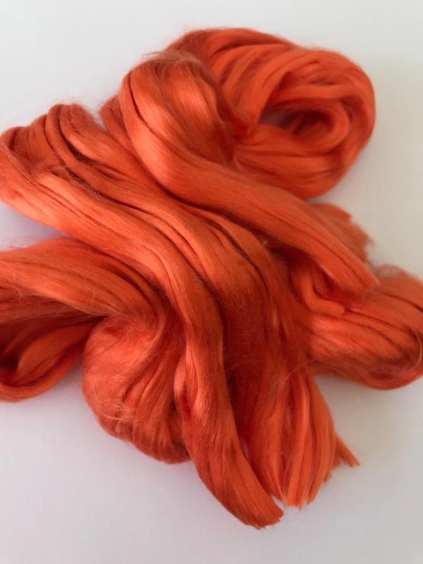 Moerbei zijdenlont  licht oranje, 10 gram