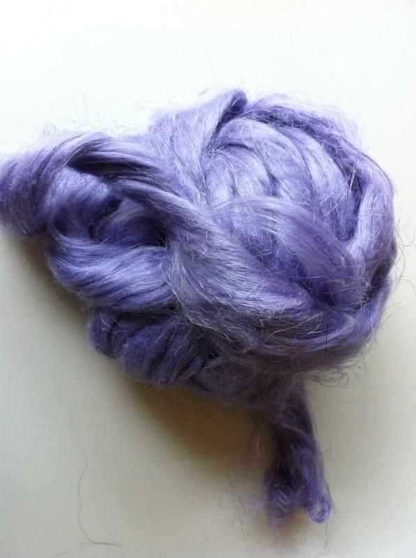 Vlas lila paars, 60cm