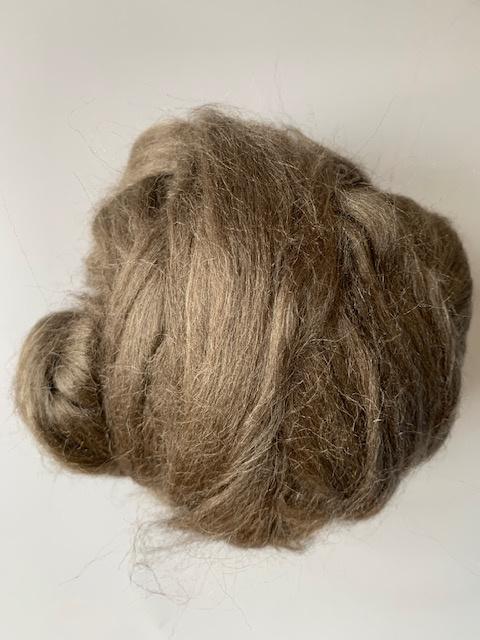 Moerbei zijdenlont uit India, steen grijs bruin kleurig,  8 gram