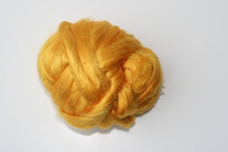 Moerbei zijdenlont  zonnen geel,  10 gram