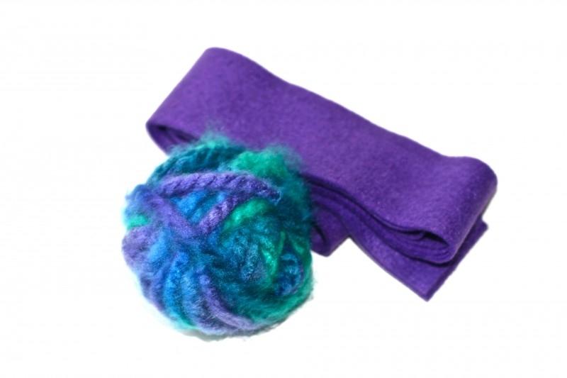 Sieraad pakket 7, paars/turquoise tinten