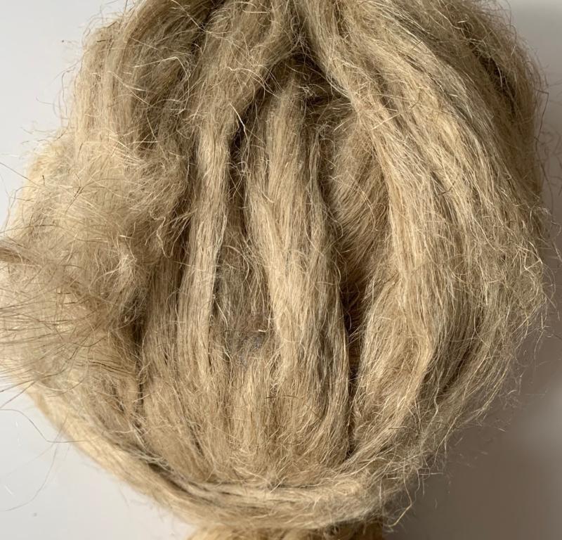 Vlas natuur 60cm