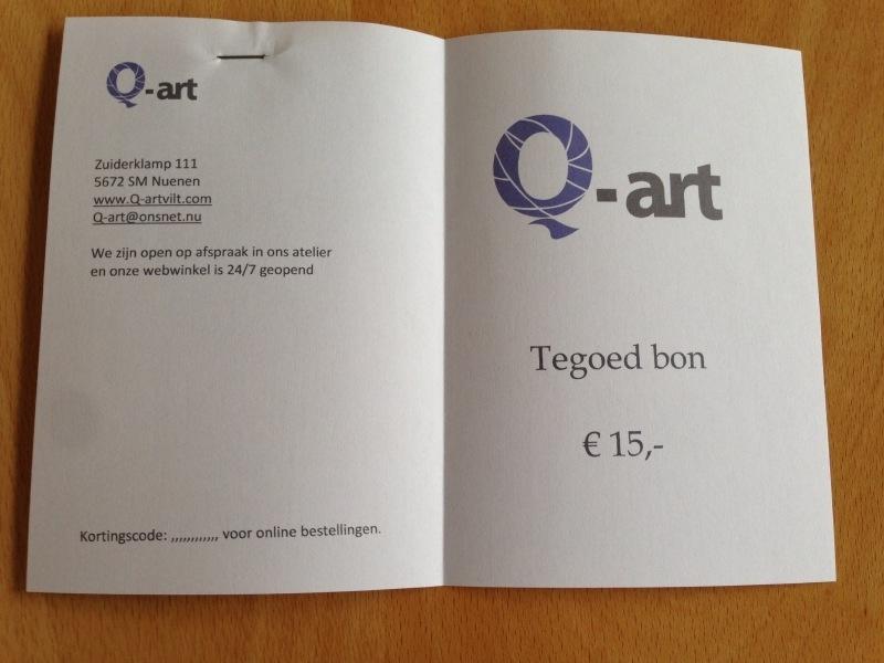 Q-art | Cadeaubon € 25,-