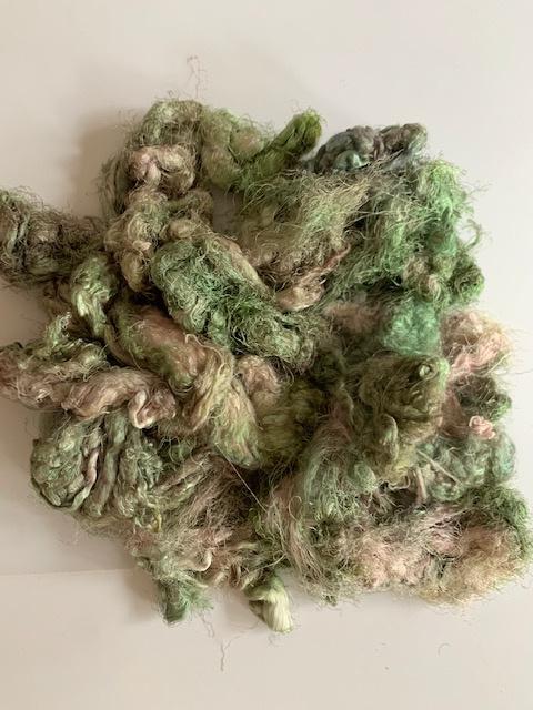 Zijde waste, 5 gram, oud groen rosé, nummer 62