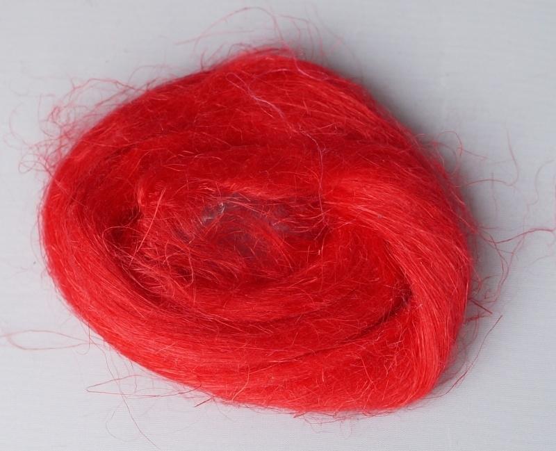 Vlas fel rood, 60cm