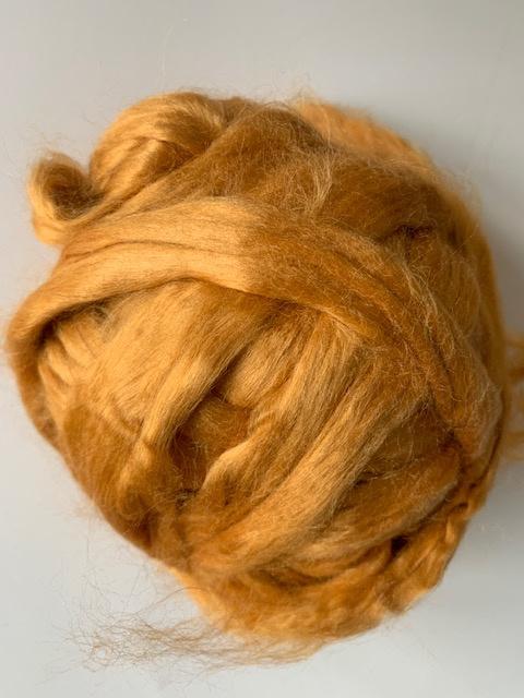 Moerbei zijdenlont uit India, goud kleurig,  8 gram