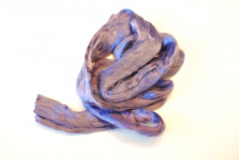 Moerbei zijdenlont licht paars, 10 gram