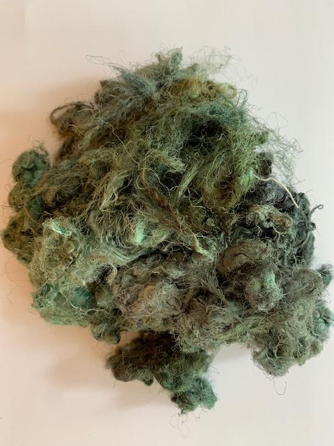 Zijde waste, 5 gram, groen grijs, nummer 45
