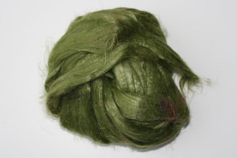Vlas olijf groen, 60cm
