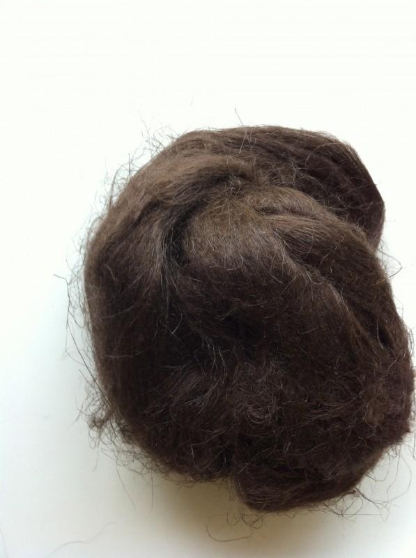 Vlas bruin, 60cm