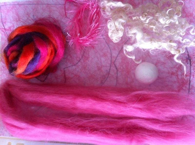 engelen pakket, rose tinten oranje