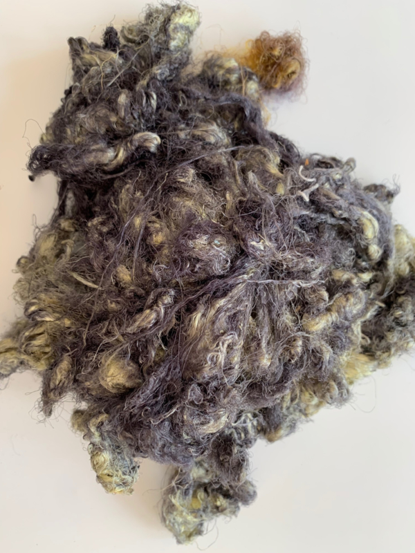 Zijde waste, 5 gram, grijs groen , nummer 58