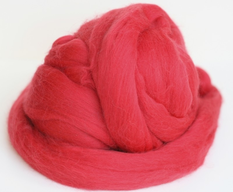 Merinowol (50 gram), kardinaal rood, kleurcode 153, 20-21 micron