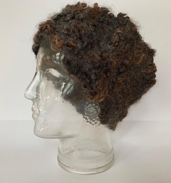 Haarband van wensleydale krullen zelf maak pakket incl. beschrijving, patroon en materiaal