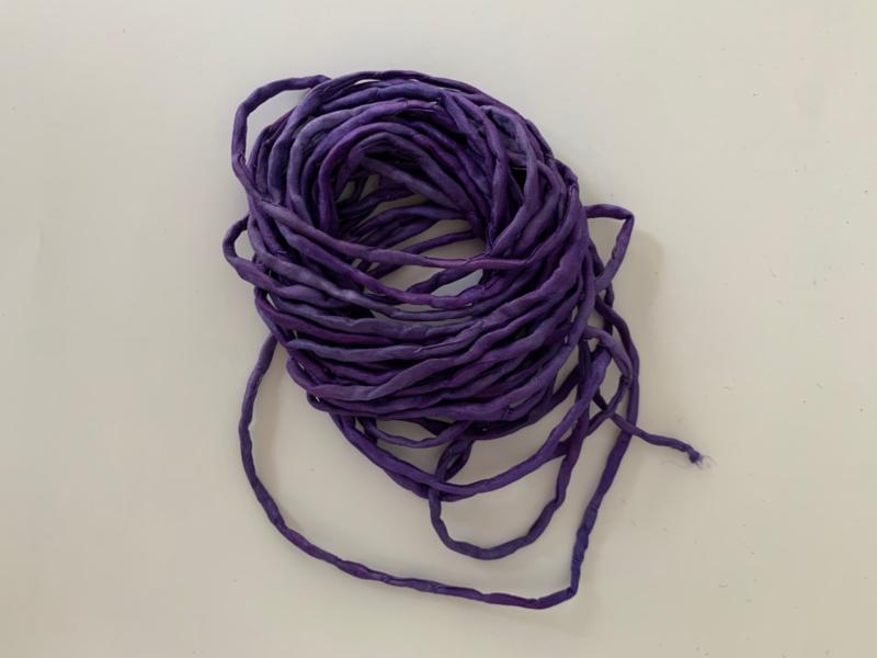 Gerolde ponge zijdedraad, paars, per 5 meter, nummer 39