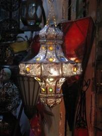 Marokkaanse lamp Dakhla zilver