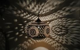 Marokkaanse lamp tafellamp mamounia koper