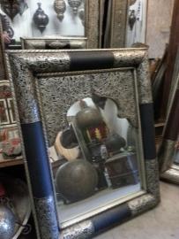 marokkaanse spiegel zilver 100cm x 80cm