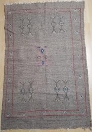 Vloerkleed marokkaans berber grijs