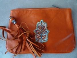 marokkaans tasje oranje verkocht