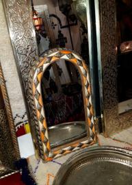 Verkocht Marakkaanse spiegel beenderen 50 x 30cm hxb
