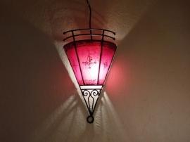 wandlamp Henna rood Uitverkocht (op bestelling leverbaar)