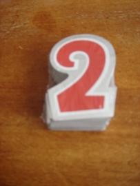 plak cijfer 2