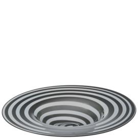 Schaal Leonardo Twist 36 cm grijs