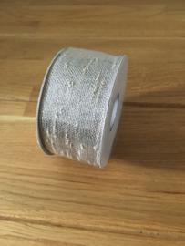 lint op rol boucle lurex 2.5 m x 40 mm