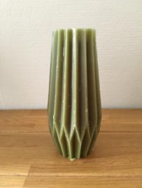 Gusta Kaars 19,3 cm kleur donker groen