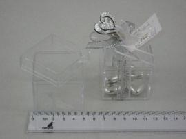 doosje plastic met deksel per stuk