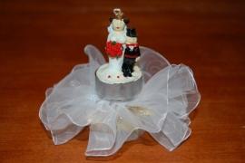 bruidspaar theelichtje opgemaakt