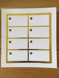 wit met gouden rand per 8 stuks