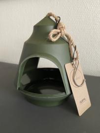 Gusta Vogelvoeder huisje ø18x15,5cm kleur groen