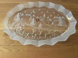 Walther glas groot glazen schaal kerst