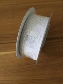 lint op rol white 3 meter x 25 mm