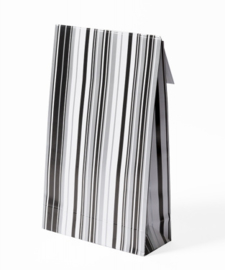 GiftBags 140x230x55mm Silver Striped