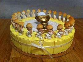 communie kniel taart incl kelk topper