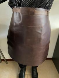 Sloof schort leder lang kleur bruin