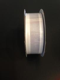 organza wit op rol 2.5 cm breed