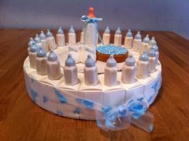 baby papfles blauw dopje taart