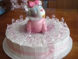 baby speen taart roze of blauw uitvoering