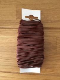 lint  elastisch donker bruin 20 meter