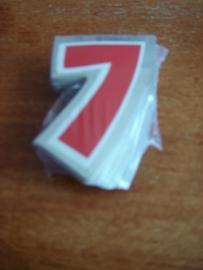 plak cijfer 7