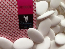 De Bock chocolade dragees kleur wit 250 gram