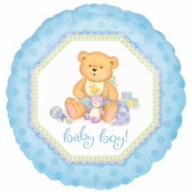 geboorte ballon blauw baby boy