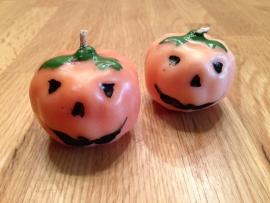 halloween pompoen kaarsjes 6 stuks