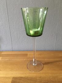 middel groot model glazen theelicht houder